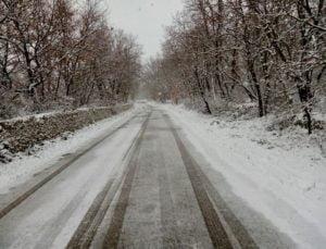Neve a febbraio a Masseria Cimadomo in Puglia